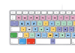 Apple Final Cut Pro X Keyboard Stickers (White Letters) | Mac | QWERTY UK, US