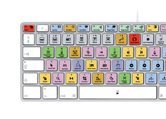 Apple Final Cut Pro Keyboard Stickers (Black Letters) | Mac | QWERTY UK, US