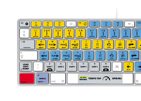 Serato Scratch Live Keyboard Stickers | Mac | QWERTY UK, US