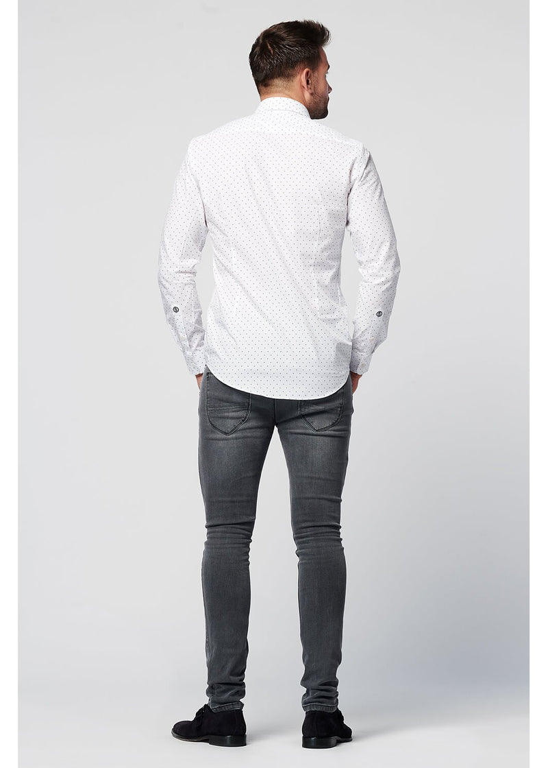 Sustainable Shirt Spotted White