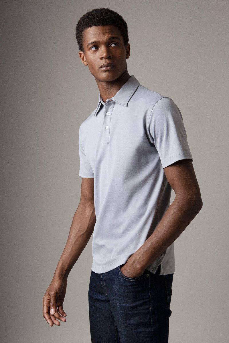 Alloy Grey Egyptian Cotton Polo Shirt