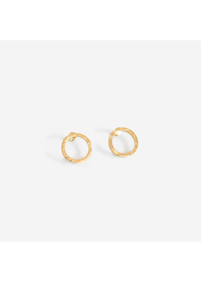 Marissa Gold Earrings Hammered - Baizik