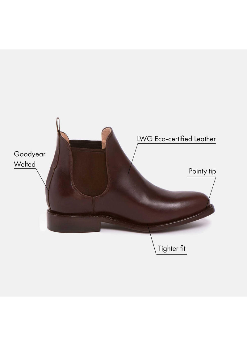 MARIA Chelsea Boot Chocolate - Baizik