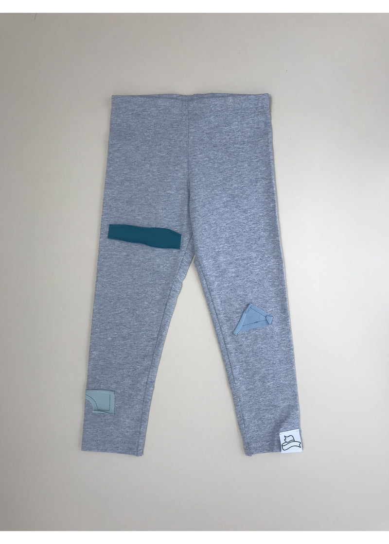 BB grey leggings with colourful shapes