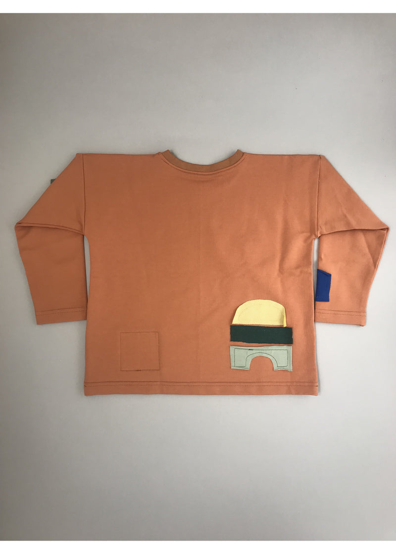BB long sleeve sweatshirt with colourful shapes