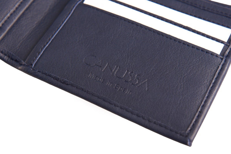 Slim Vegan Wallet - Blue