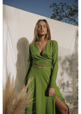 GREEN SUNDALAND BLOUSE