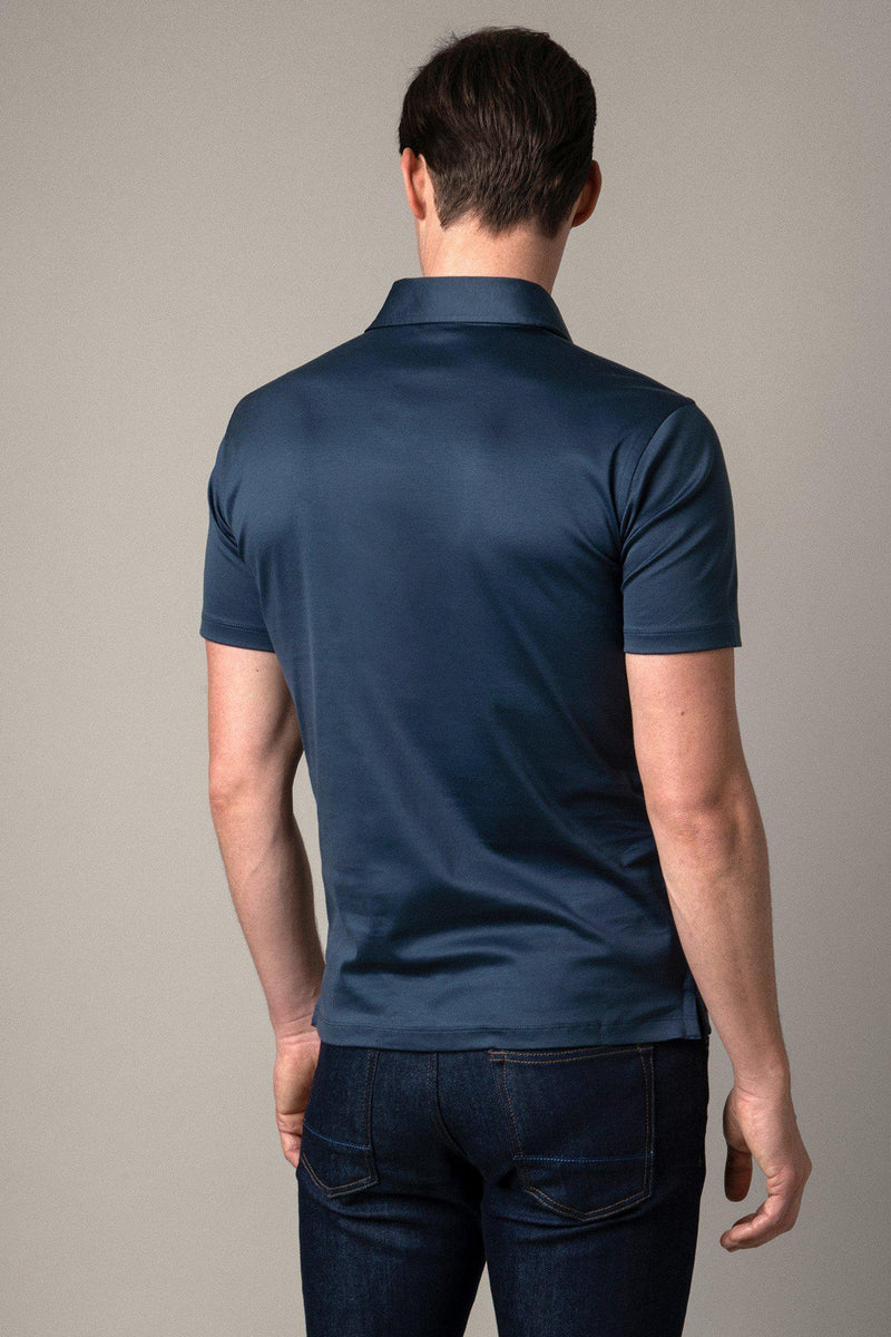 Slate Grey Egyptian Cotton Polo Shirt
