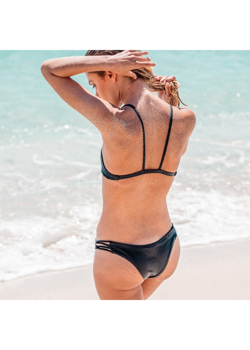 Tangled Bikini Bottom in Black
