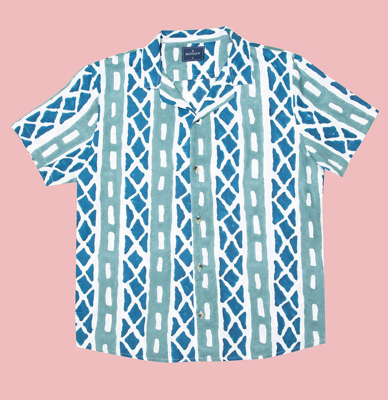 Tyre Print Short Sleeve Shirt