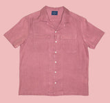 Pink Double Pocket Short Sleeve Shirt