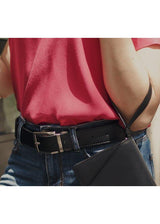 Reverse Vegan Belt - Reversible Black/Red