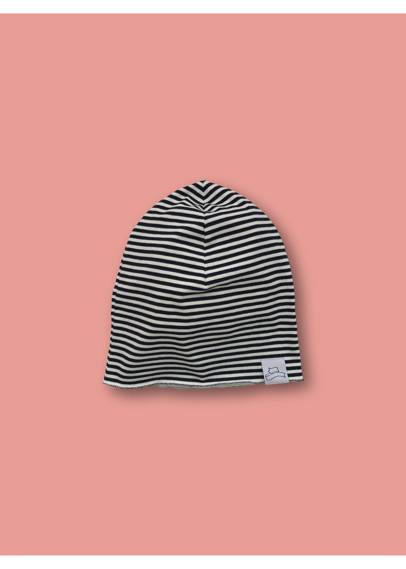 GP striped slouchy beanie hat