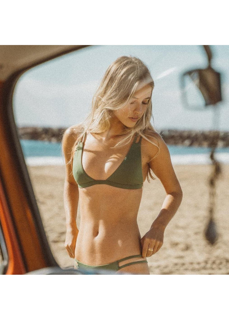 Caravel Bikini Top in Olive