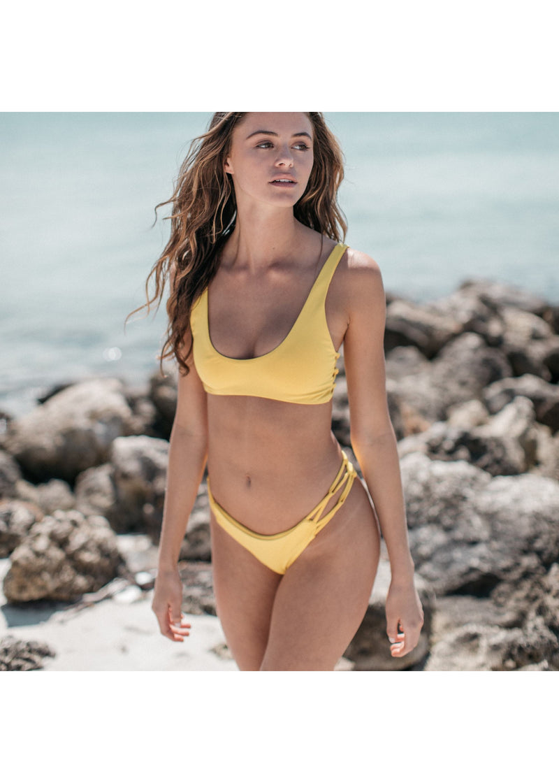 Tangled Bikini Bottom in Banana