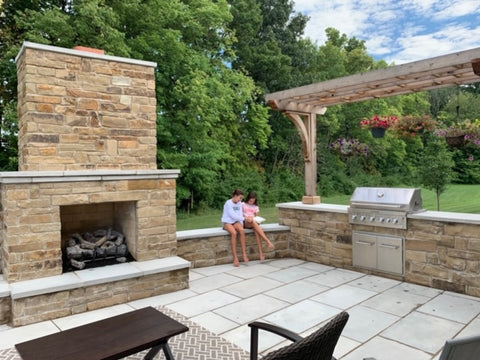 Fireplace and Grill Station Patio Indy Grills and Outdoor Living