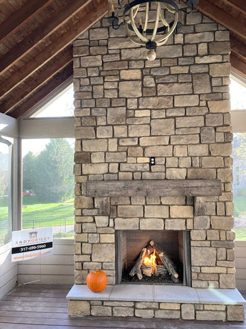 Screened in Porch Fireplace Indy Grills