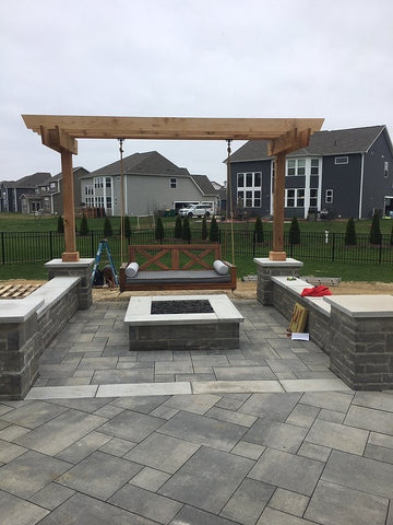Swing and Fire Pit Indy Grills and Outdoor Living
