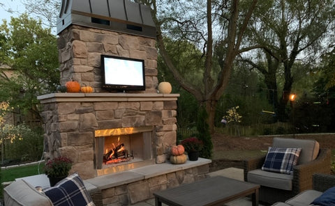 Zionsville Patio Fireplace Indy Grills