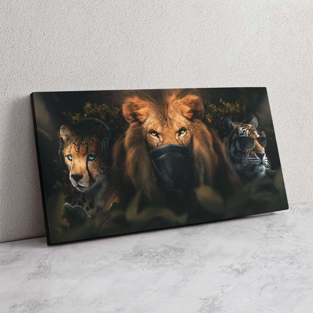 Three Wise Animals - MoodCanvas