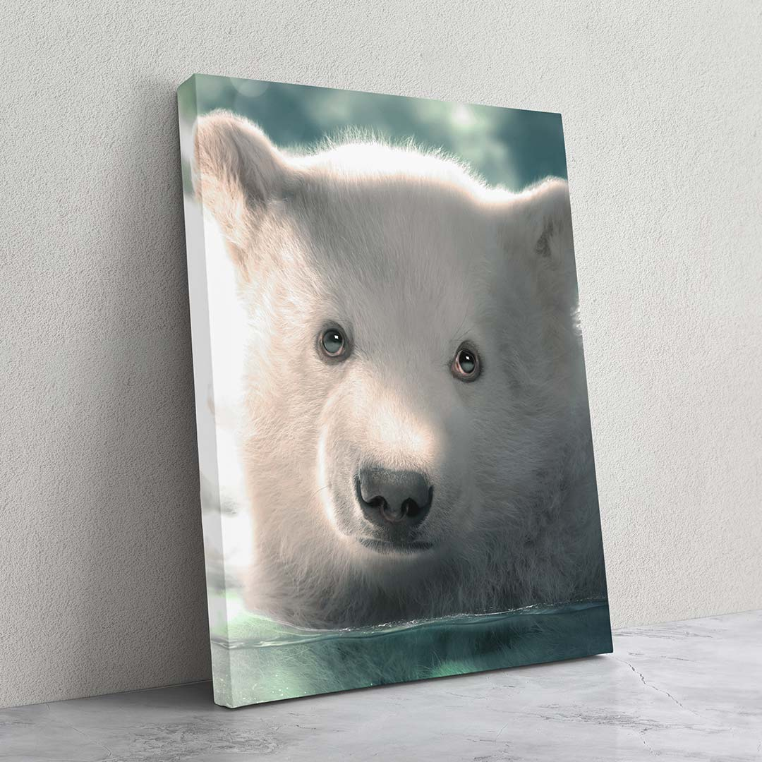 Polar Bear Cub - MoodCanvas