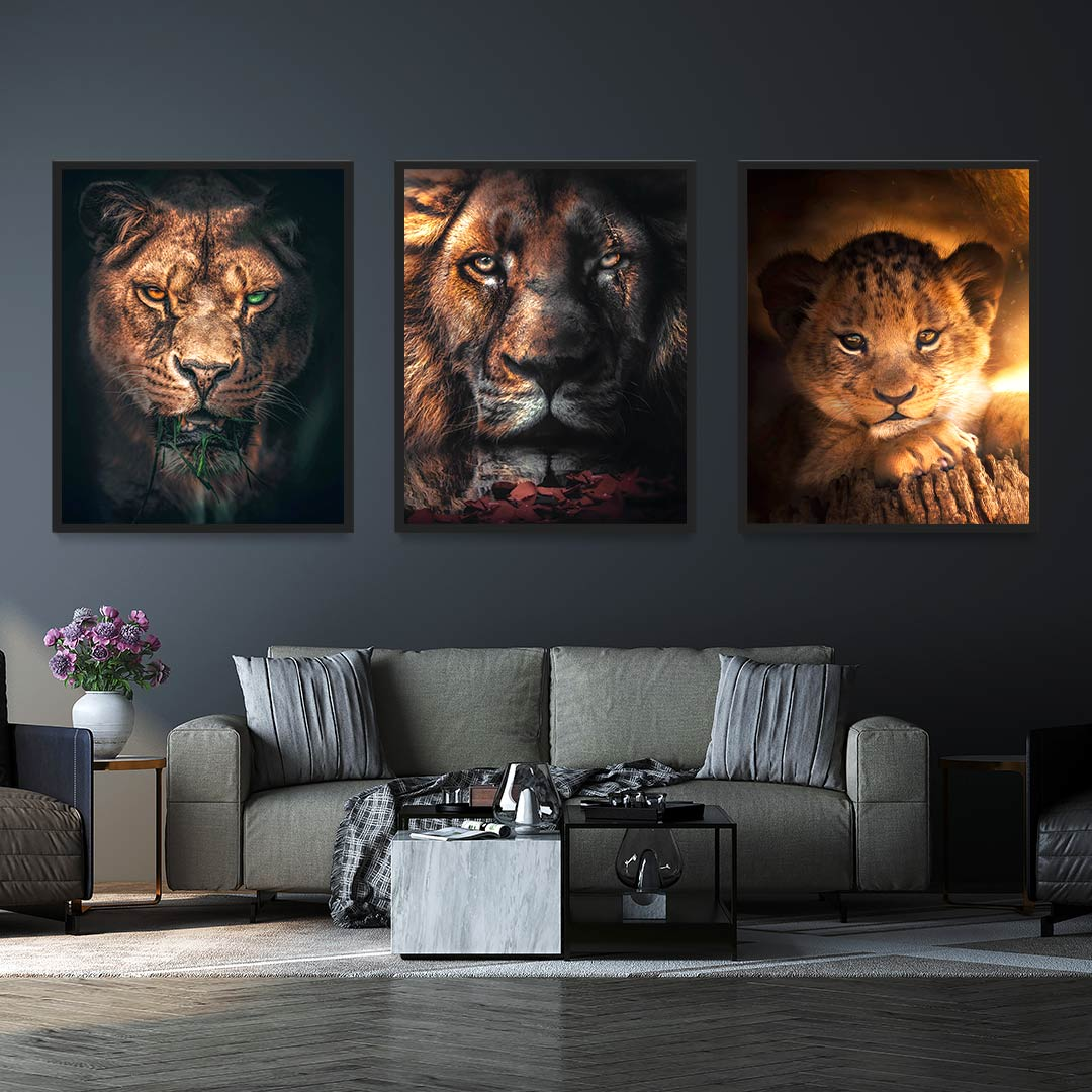 Lion Family Bundle - MoodCanvas