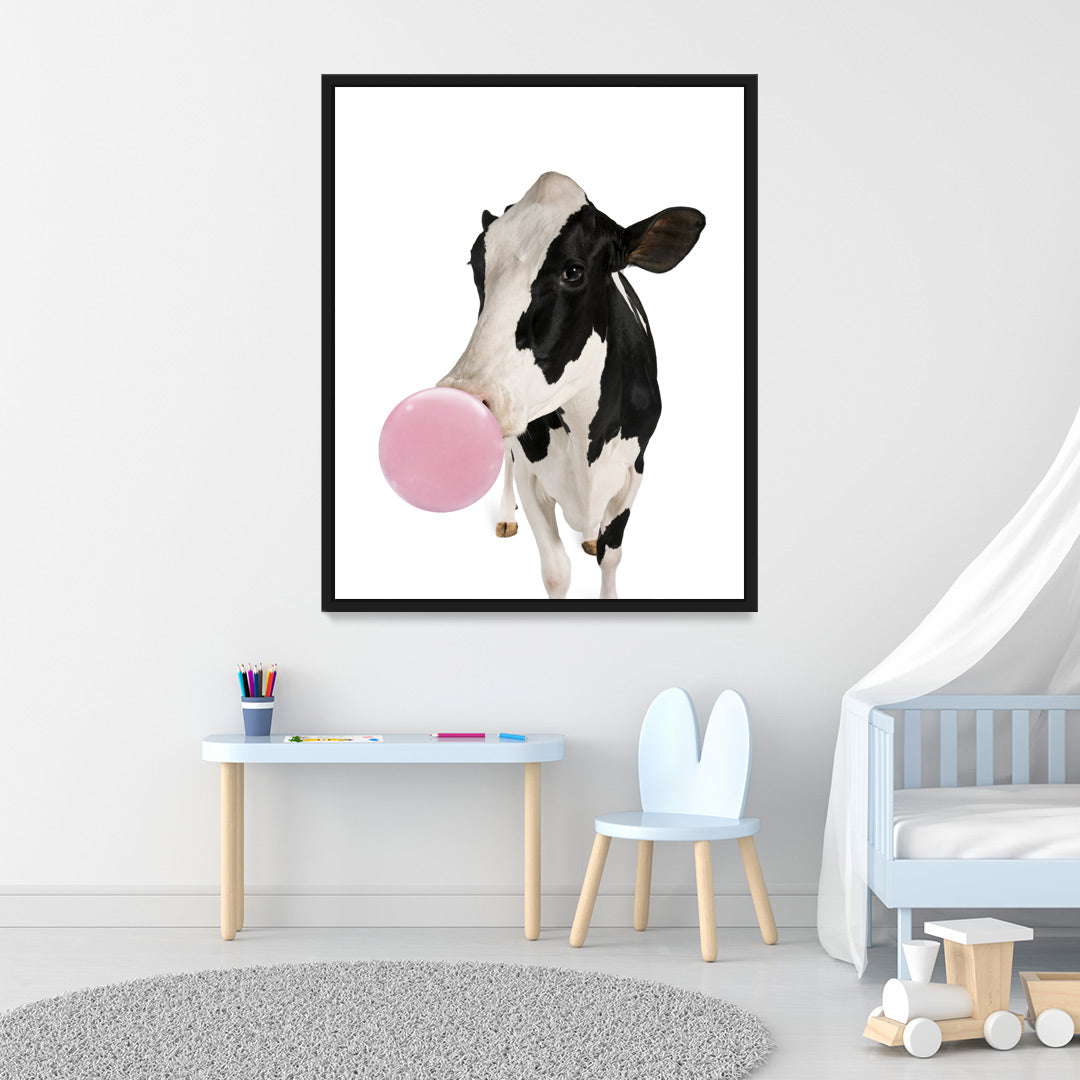 Cow Bubble Gum - MoodCanvas