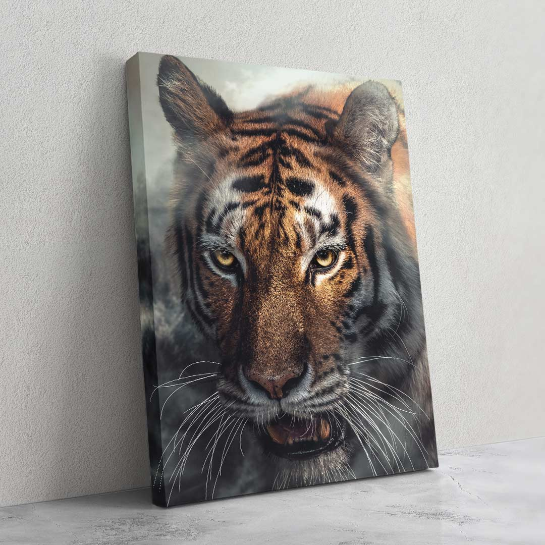 Misty Tiger - MoodCanvas