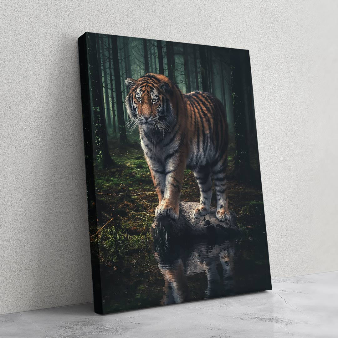 Watching Tiger - MoodCanvas