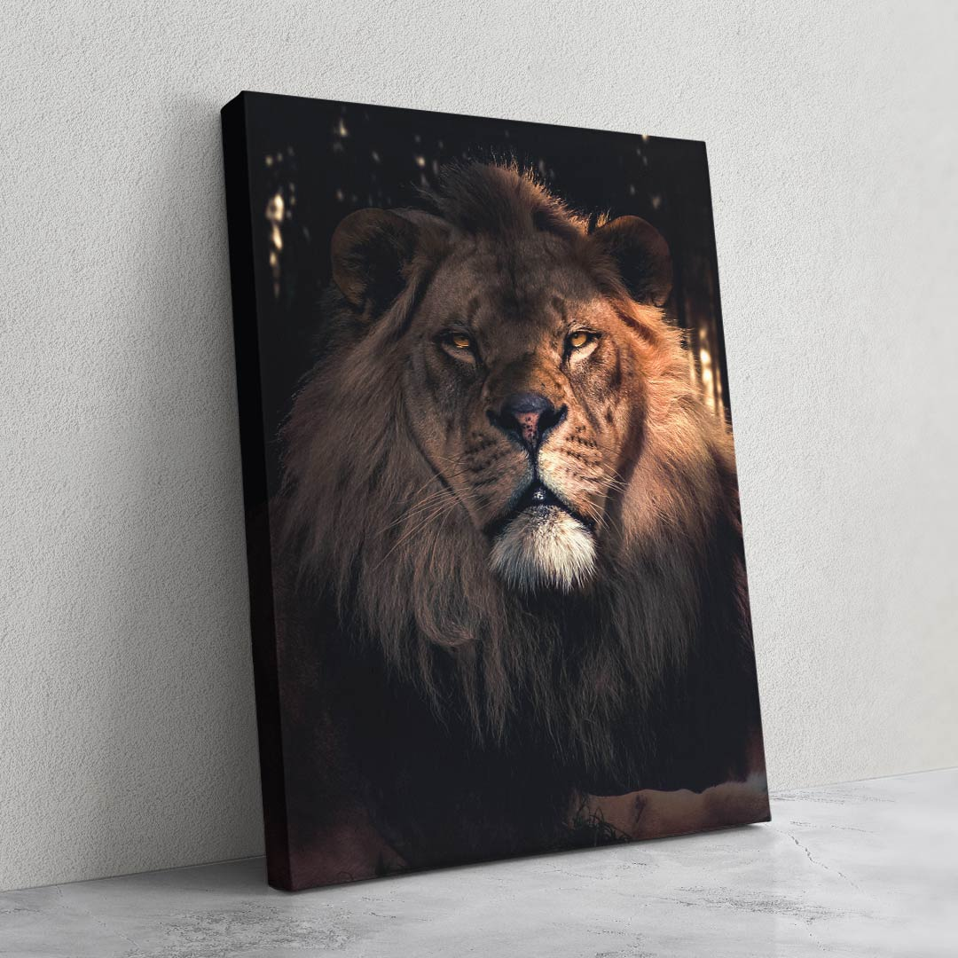 Serious Lion - MoodCanvas