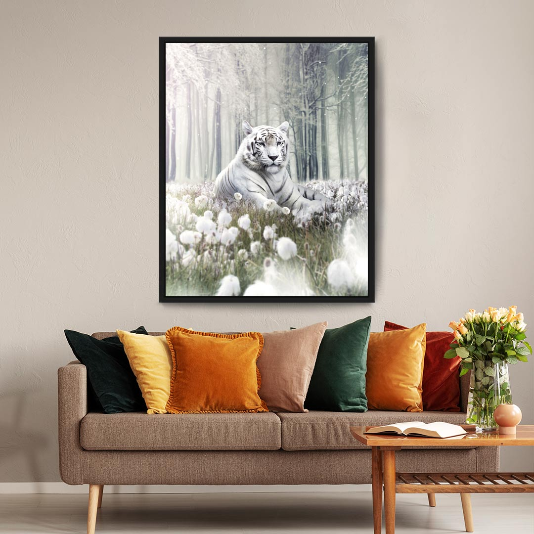 White Tiger - MoodCanvas