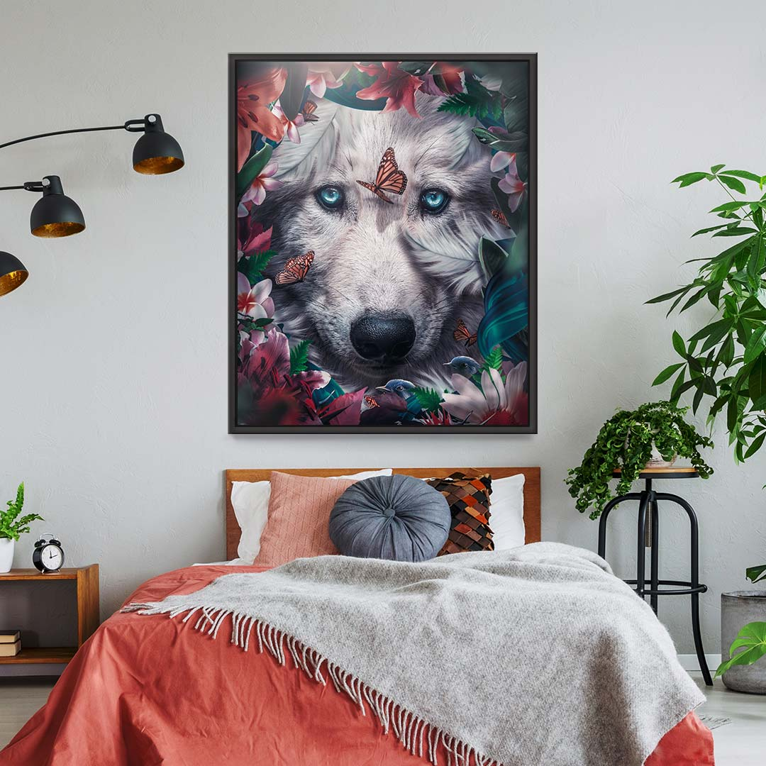 Floral Wolf - MoodCanvas