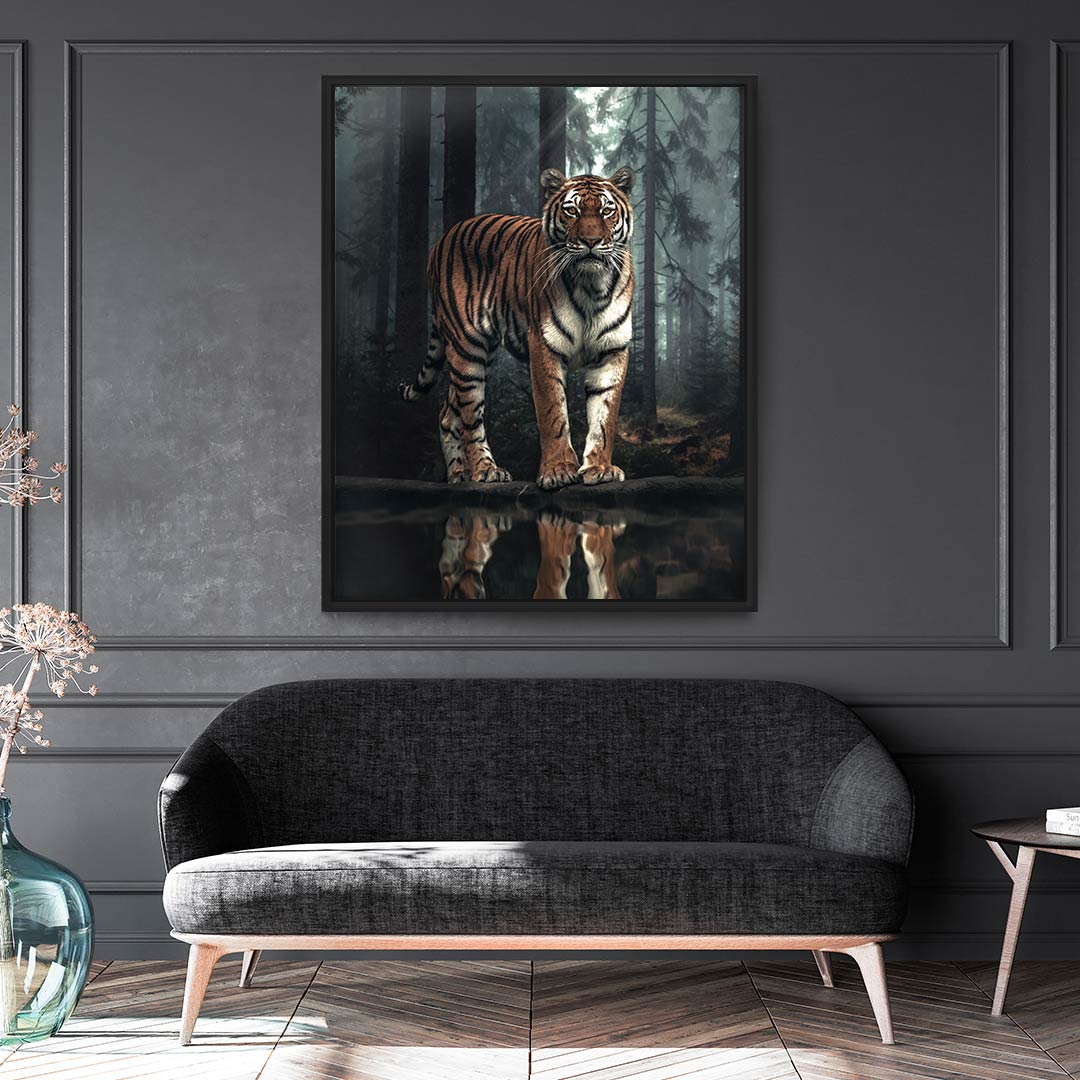 Tiger Reflection - MoodCanvas