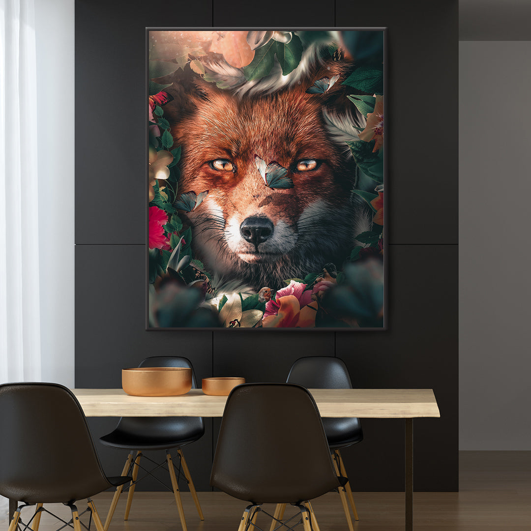 Floral Fox - MoodCanvas