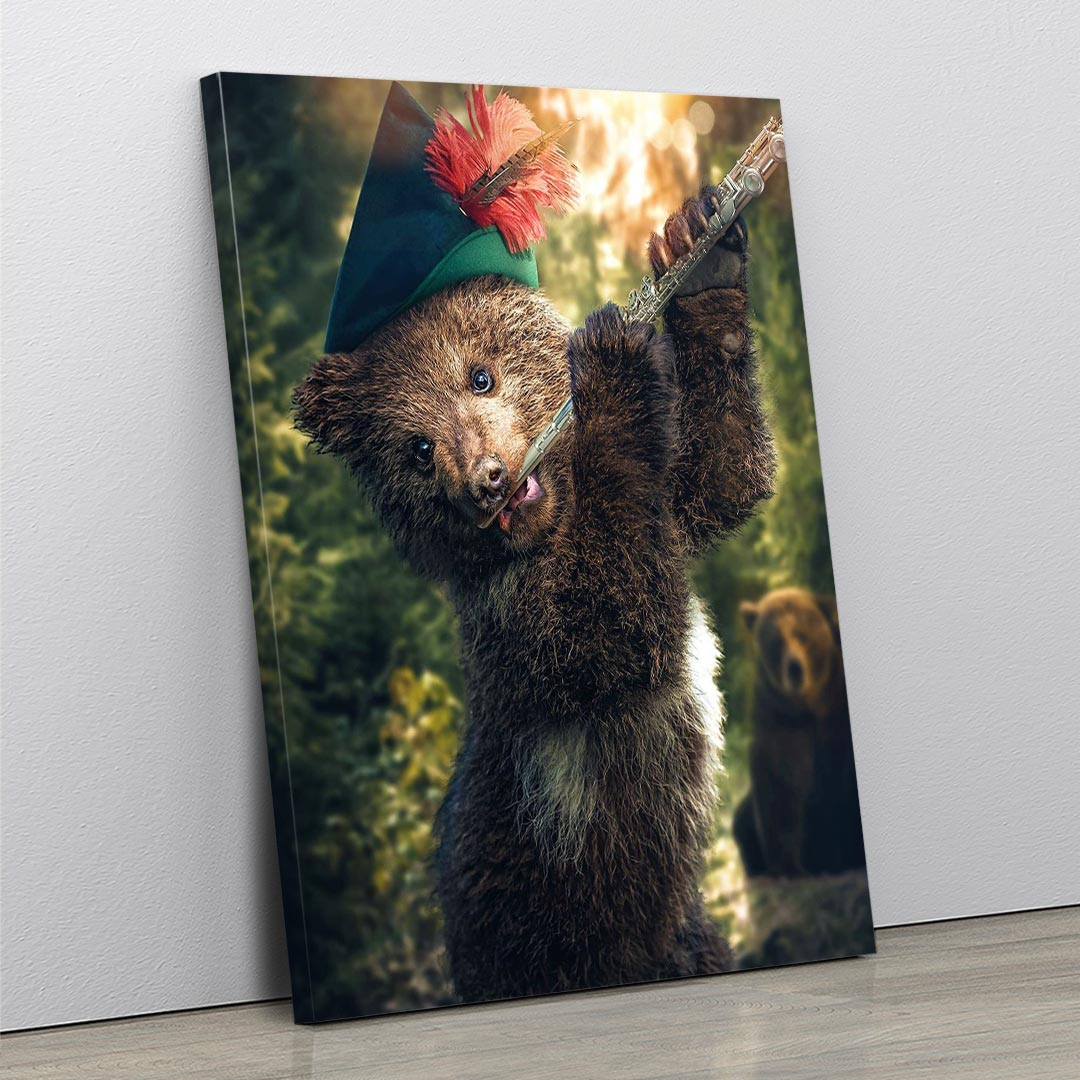 Pied Piper Bear - MoodCanvas