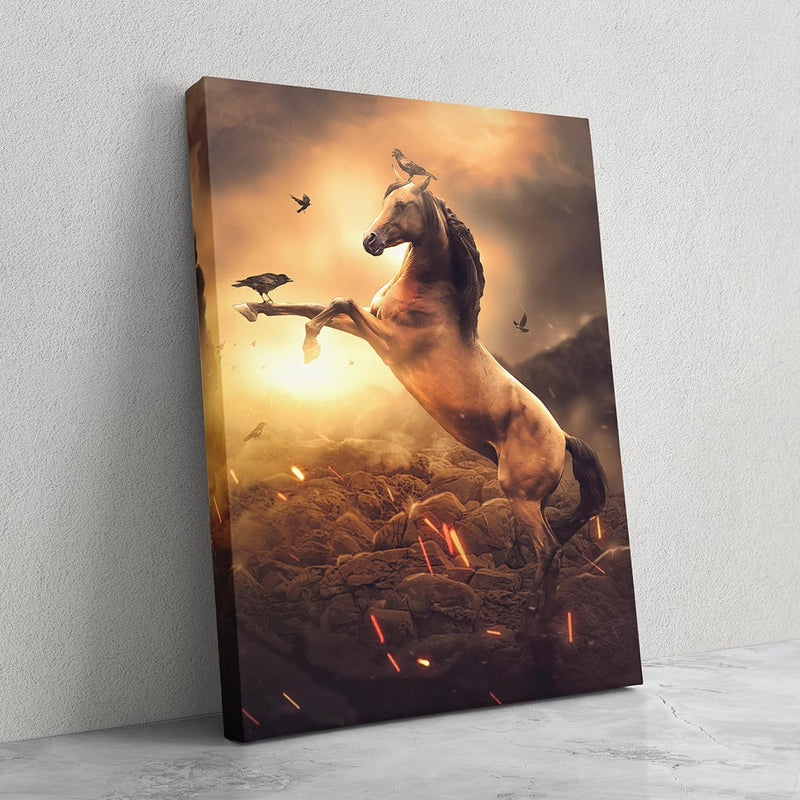 Golden Horse - MoodCanvas