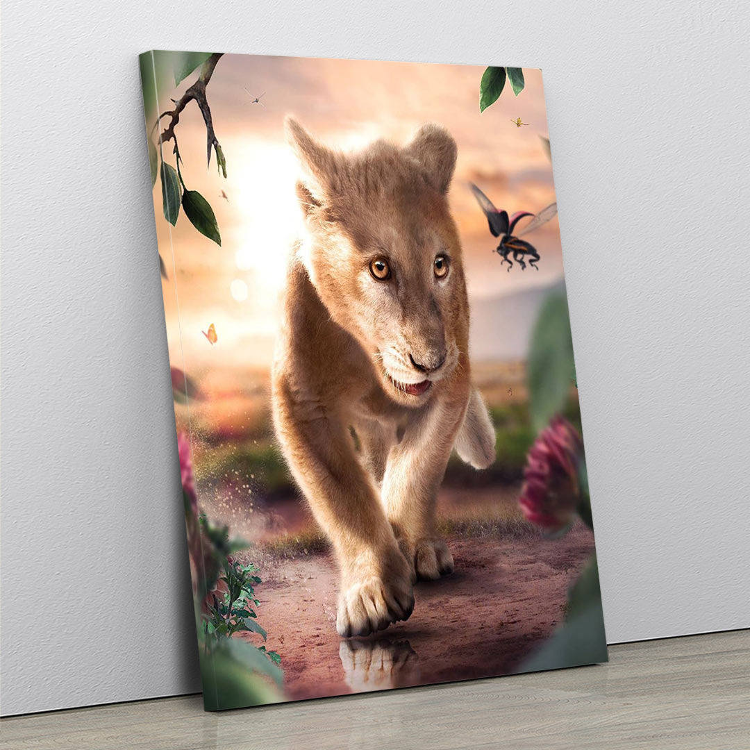 Happy Lion Cub - MoodCanvas