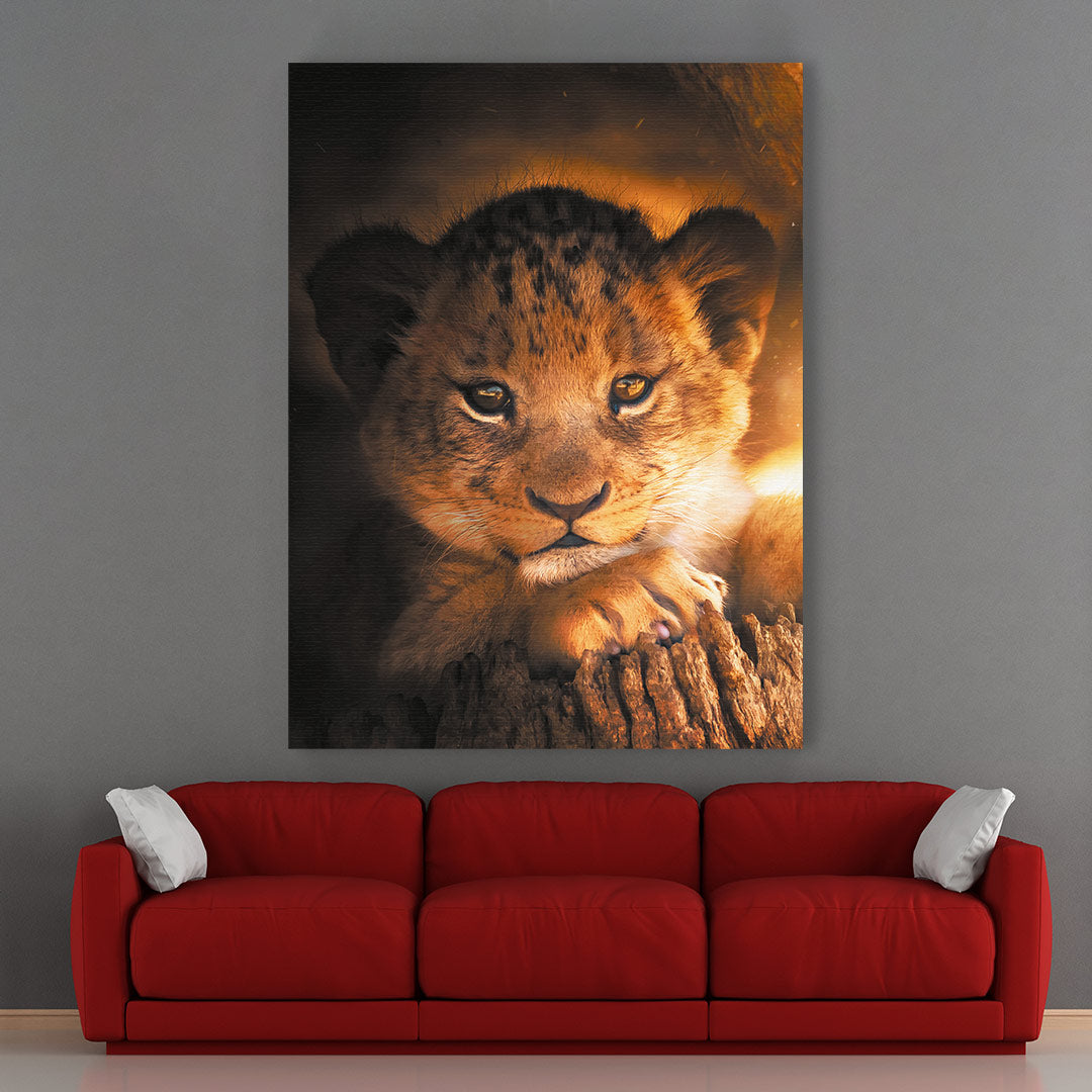 Lion Cub - MoodCanvas