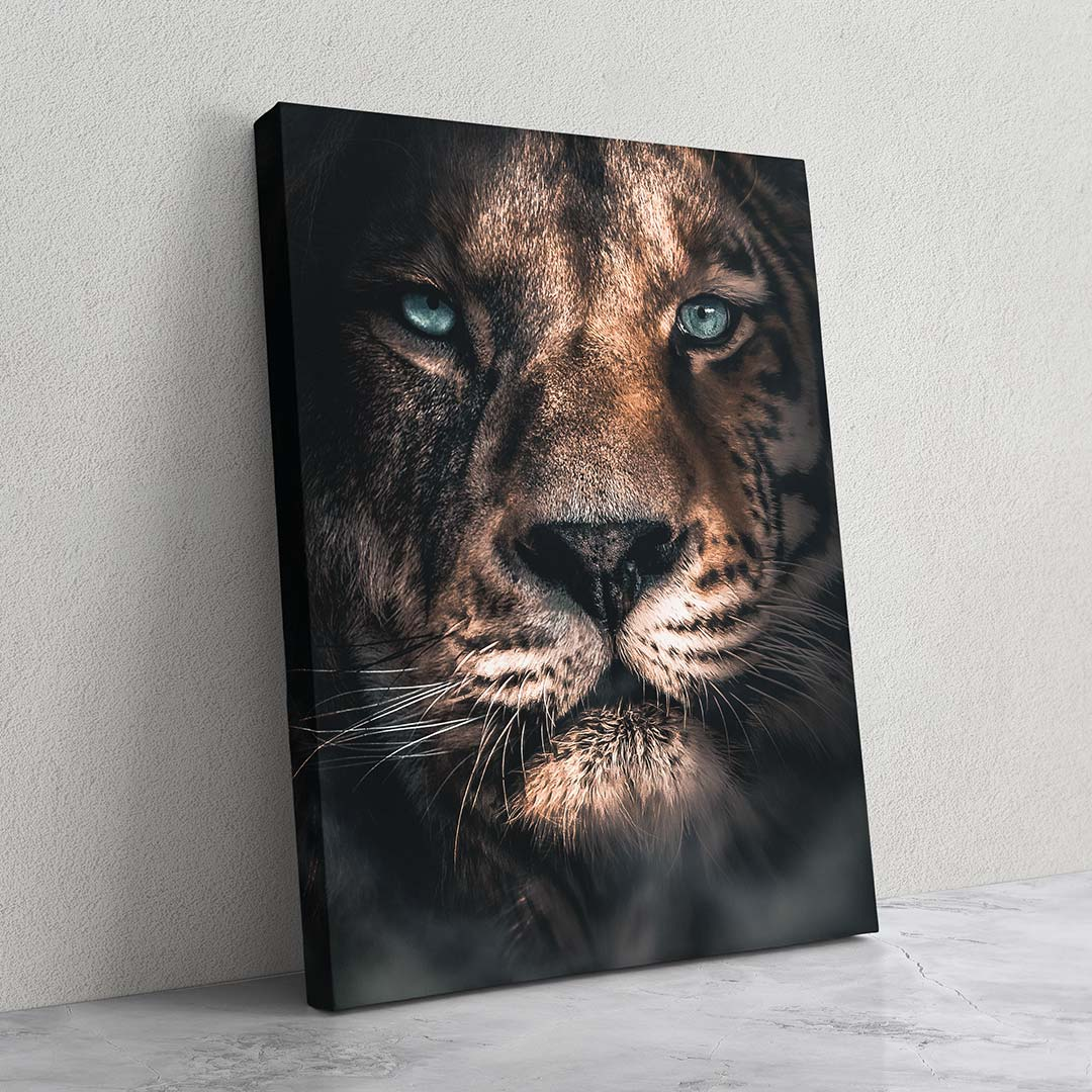 Merged Lion - MoodCanvas