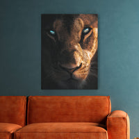 Mysterious Lioness - MoodCanvas