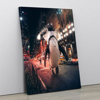 The Manhattan Penguin - MoodCanvas