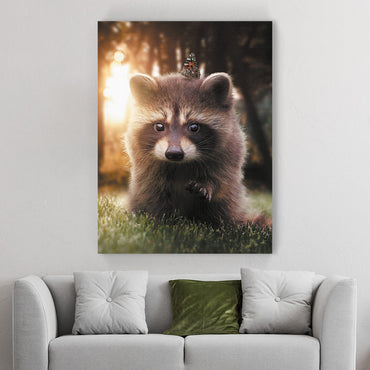 Raccoon & Butterfly