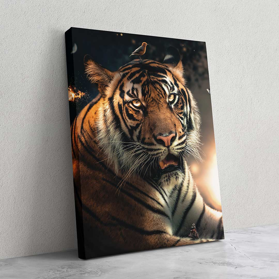 Tiger Bird Head - MoodCanvas
