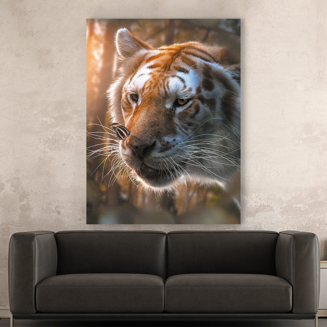 Tiger & Butterfly - MoodCanvas