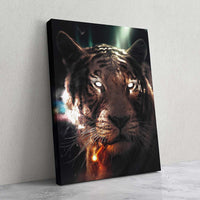 Smoking Tiger - MoodCanvas