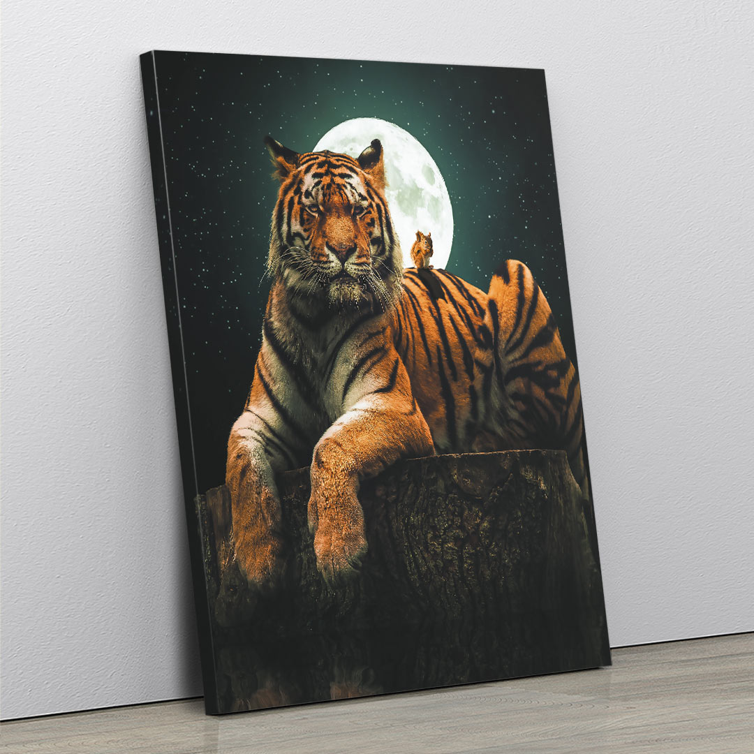 Tiger & Squirrel - MoodCanvas