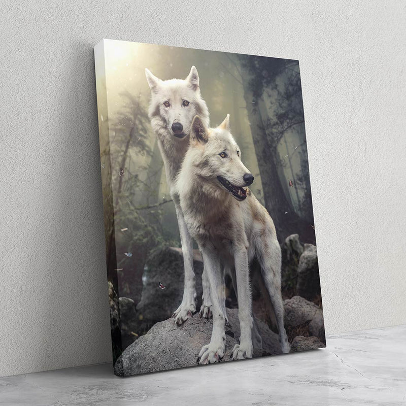 Double Wolves - MoodCanvas