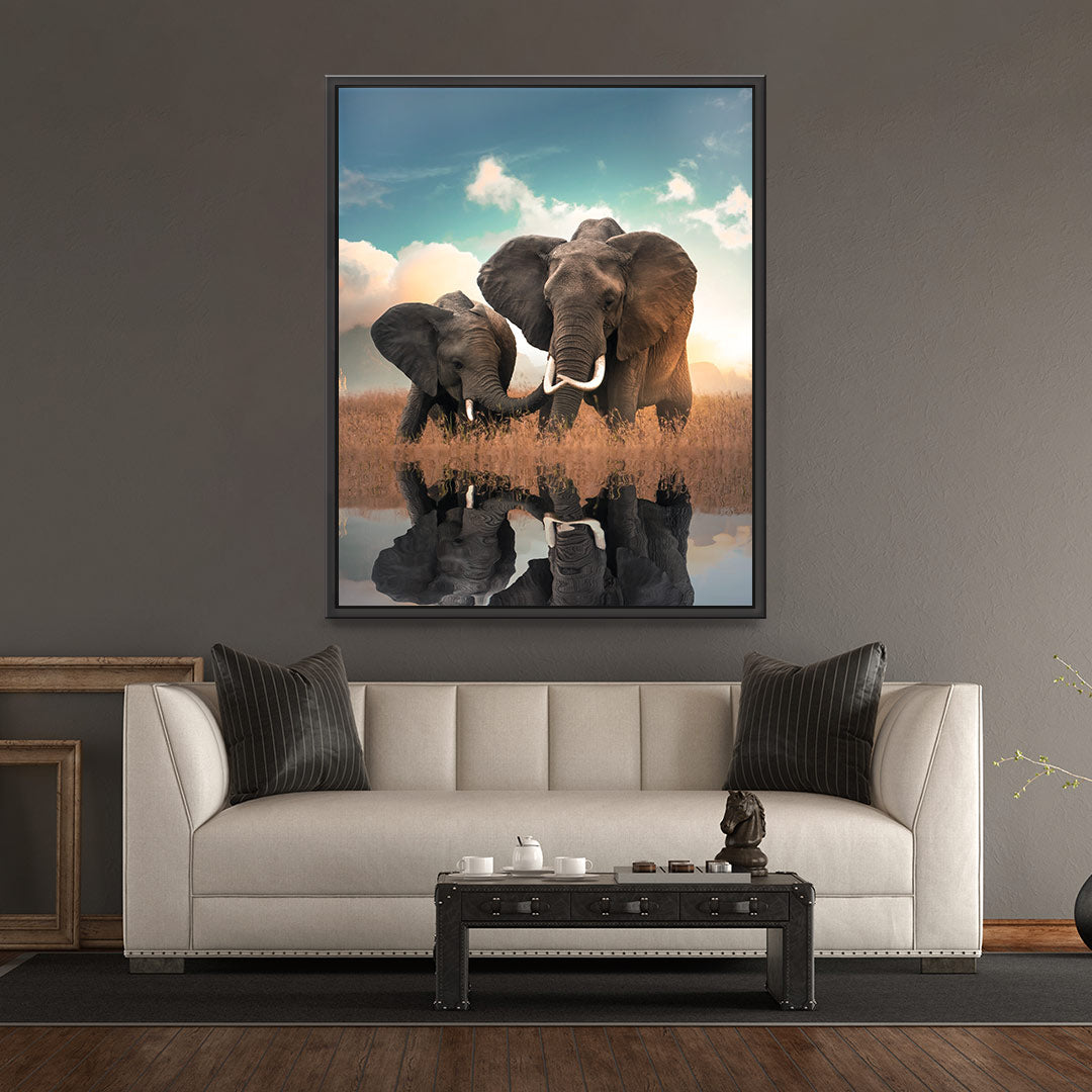 Elephant Love - MoodCanvas
