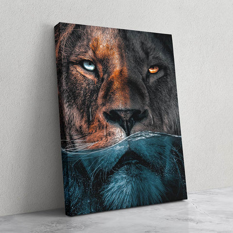 Underwater Lion - MoodCanvas