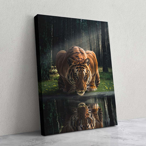 Tiger in The Woods - MoodCanvas